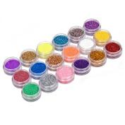 Sanwood Nail Art Decoration Powder Glitter Dust Set For UV Gel Acrylic - random colour