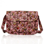 Ladies Girl's Fashion Quality Oilcloth Owl Design College Satchel Cross Body Bags School A4 CWS0087A