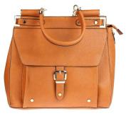 Girly HandBags Faux Leather Handbag Top Handle Shoulder Bag Studded Tote Buckle Fashion Designer