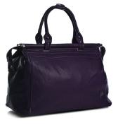 Big Handbag Shop Faux Leather In Flight Holiday Travel Holdall Hand Luggage Bag
