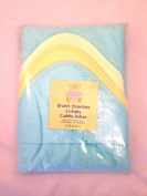 Bruin's Essentials 3 x Baby Cuddle Robes - Blue/Green/Yellow