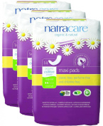 PACK OF 3 Natracare Maxi Pads Regular