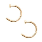 Chnli 10PCS Hot Colourful Stainless Steel Nose Open Hoop Ring Earring Body Piercing Studs Body Slave Jewellery Set
