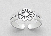 AG2AU Sterling Silver Flower Toe Ring