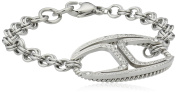 Just Cavalli Women's Bracelet Silver Stainless Steel Just Street SCAAD04
