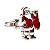 Father Christmas Novelty Gift Boxed Wedding Cufflinks Cuff Links For Groom Perfect Gift