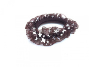 New Lace with Little Satrs Pattern Elastic Hair band Ponytail Holder - Brown
