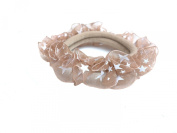 New Lace with Little Satrs Pattern Elastic Hair band Ponytail Holder - Beige