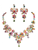 Clearbridal Women's Crystals Butterfly Wedding Bridal Jewellery Sets Necklace Earring 15091