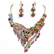 Clearbridal Women's Rhinestones Crystals Jewellery Sets Necklace Earring For Wedding Bridal Bridesmaid 15076