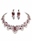 Clearbridal Women's Wedding Bridal Jewellery Sets Necklace Earring For Special Occasion 15090