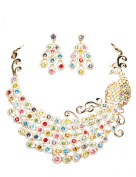 Clearbridal Women's Crystals Peacock Rhinestones Jewellery Sets Necklace Earring 15092