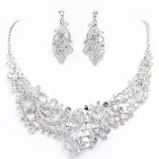 Clearbridal Crystal Necklace and Earring Jewellery Sets For Wedding Bridal Party 15068