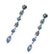 Riyo Gems Women's Topaz Silver Elegance Jewellery India Blue N½