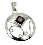 Riyo Gems Women's Garnet Discount Silver Jewellery Mitsou Fashion Pendants Red N½