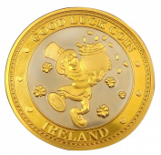 Collectors Edition Good Luck Design Coin with Leprechaun and Gold coin
