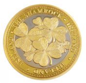 Collectors Edition Shamrock Leaves Design Coin