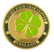 Collectors Edition Lucky Four Leaf Clover Design Coin