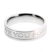 Spikes 316L Mens Love You Forever Wedding Band. Presented in a premium gift box.