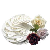 Sanwood 6Pcs Cake Sugar Craft Rose Flower Cookie Mould Tool