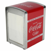 Coca Cola Design Table Top Cafe Style Napkin Dispenser w/ 100 Napkins