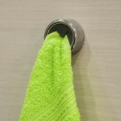 Tatkraft Bera Self Adhesive Round Towel Holder Chromed Plastic