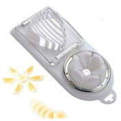 Winstory 2 in 1 Double Boilded Egg Slicer Cutter Stainless Steel Plastic Cook Tool