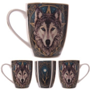 Lisa Parker Wolf Head Bone China Mug Gifts, and, Cards Gift, Idea Occasion, Gift, Idea
