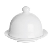 Excèlsa White Home Butter Cover And Dish 76Cm