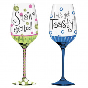 Cypress Home Frost Bright Wine Glass, 350mls, Set Of 2
