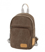 Fansela(TM) Womens Causal Solid Canvas Backpack Chest Pack Grey