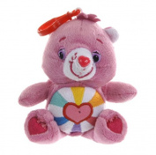 Official Care Bear Character Hopeful Heart Pink Bear Soft Toy Bag Clip Keyring