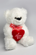 "My Home Plush Teddy with ""I Love you"" approx. 36 CM"