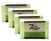 Zen Personal Care's Papaya Body Soap (Whitening) Pack 4 100gms