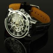 Steampunk See-Through Mechanical Watch