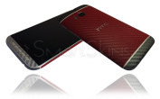 Red Grey Carbon Skin For HTC One M8 Wrap Cover Decal Protector NOT CASE