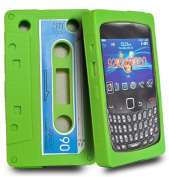 Green Cassette silicone case cover pouch for Blackberry curve 9320