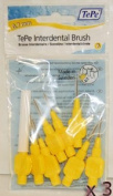 TePe Interdental Brushes 0.7mm Yellow - 3 Packets of 8