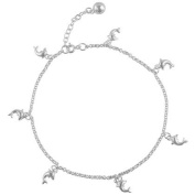 Sterling-Silver Dolphin Chain Anklet