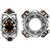 Storywheels Charm Silver Garnet Wheel Containing 4 Garnets