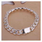 NYKKOLA Hot Classic 925 Solid Silver Jewellery Fashion Bracelet For Women Mens