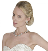 Gorgeous. Crystals & Pearls Choker Style Necklace And Set Of Earrings