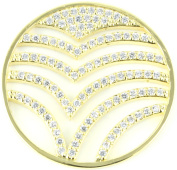 Milano Coin Disc For Milano Keeper Pendant Holder Locket Carrier Diamante Wave