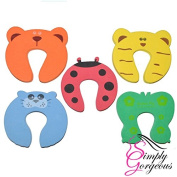 Set Of 5 Baby Safety Animal Door Protectors