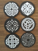 Welsh Slate 6pc Celtic Coaster Set