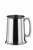 Arthur Price of England Pewter Straight Sided Pewter Tankard, Silver