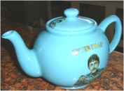 THE FAB FOUR 'WHEN I'M 20m BLUE TEAPOT, 4 cup size