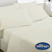 SILENTNIGHT WHITE SINGLE OR DOUBLE BRUSHED COTTON FLANNELETTE SHEET FITTED BED COVER BEDDING SET