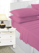 ANSS POLY COTTON FLAT BED COVER SHEET FUSCHIA:DOUBLE