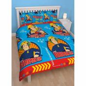 Fireman Sam Brave Double Reversible Duvet Cover and Pillowcase Set